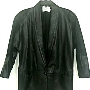 Peter Caruso Womens 8 Vtg Retro Leather Jacket